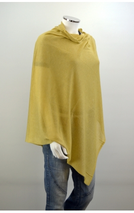 Short Poncho viscose and silk